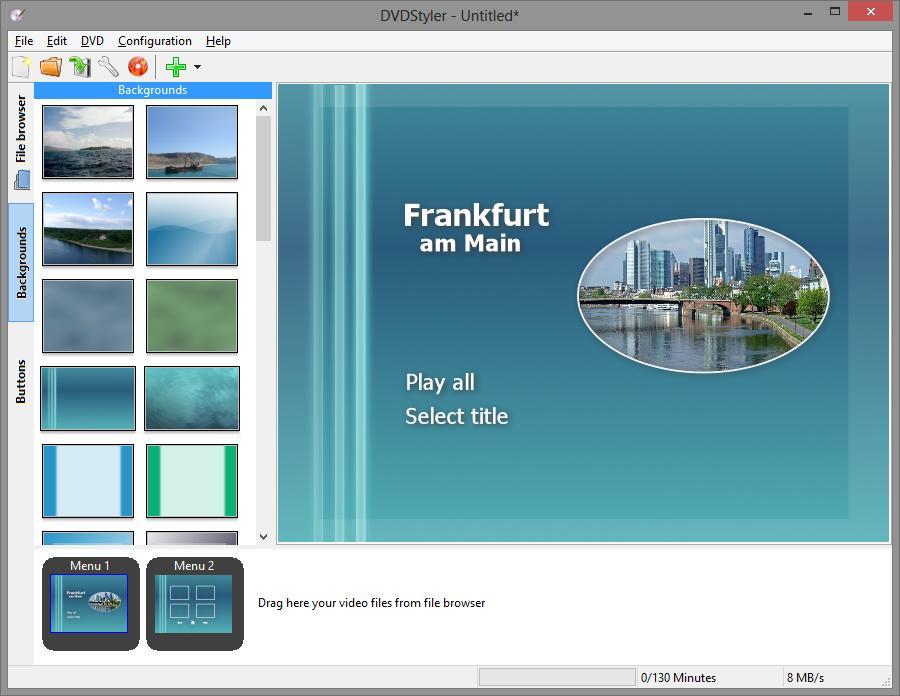تحميل برنامج DVDStyler v2.4.2 لانشاء وتحرير الفيديو وحرقه على DVD
